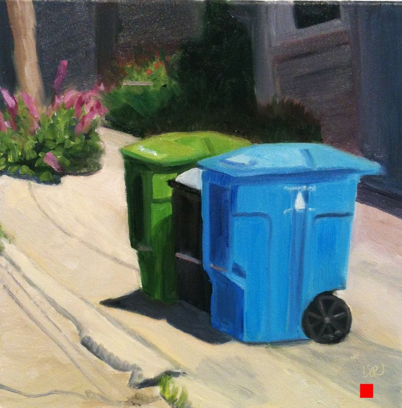 Tuesday Trash Day by Linda Rosso
