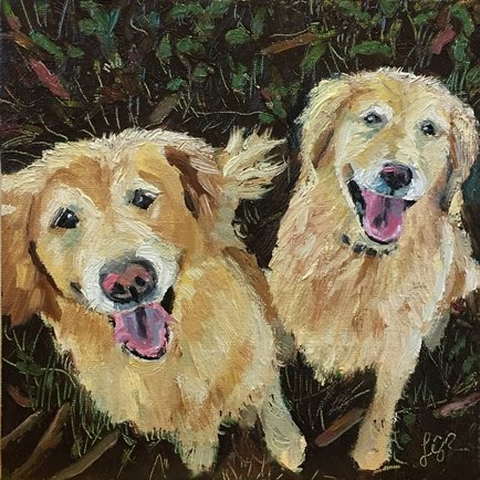 Golden Retrievers by Linda Rosso