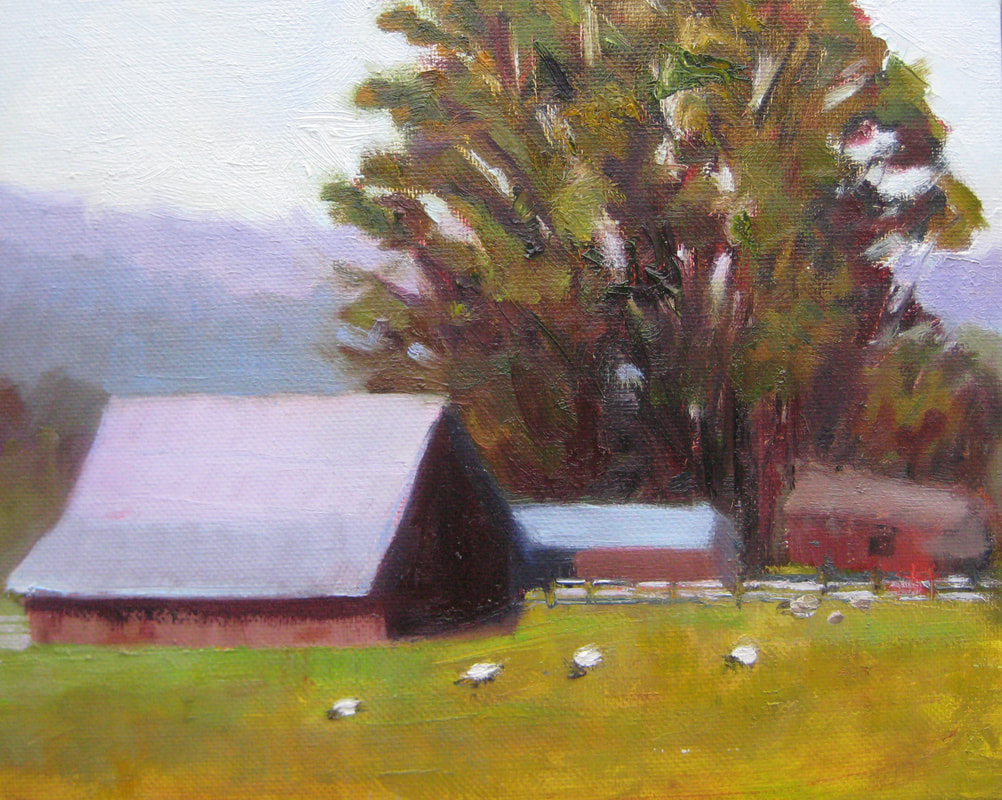 Eucalyptus Barn by Linda Rosso